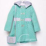 Детское Кашемировое Пальто Для Девочки С Сумочкой