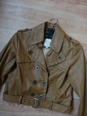 Снизила цену Bershka короткая куртка кожзам .