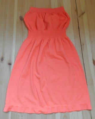 Коралловое новое платье-сарафан.