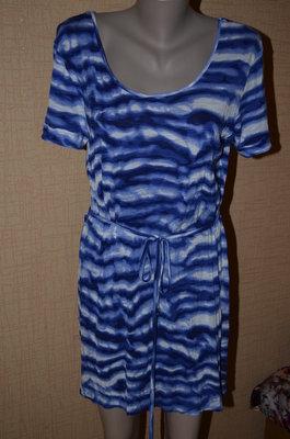 сине голубое платье вискозное