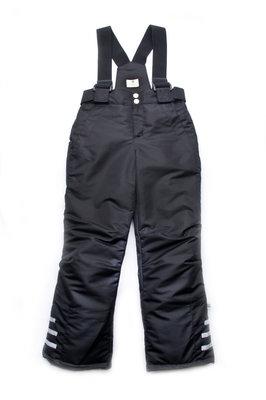 Зимние брюки на бретелях черные 03-00668-0