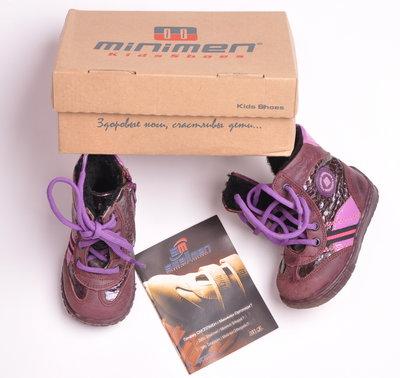 Зимние ботинки для девочки, р.20, кожа, цигейка, Minimen , Турция