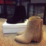 Крутые ботинкис бахромой Steve Madden. Реал.фото