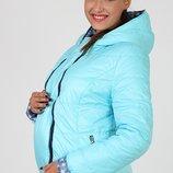 Демисезонная куртка для беременных, двухсторонняя голубая