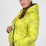 Яркая куртка для беременных, демисезонная двухстронняя, салатовая