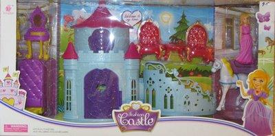 Замок голубой с лестницей