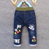 Утеплённые джинсы на синтепоне рост 80, 90, 100, 110