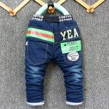 Утеплённые джинсы на синтепоне рост 80, 100, 105