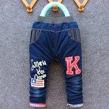 Утеплённые джинсы на синтепоне рост 80, 90, 100