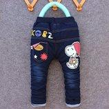 Утеплённые джинсы на синтепоне рост 90, 100, 110, 115