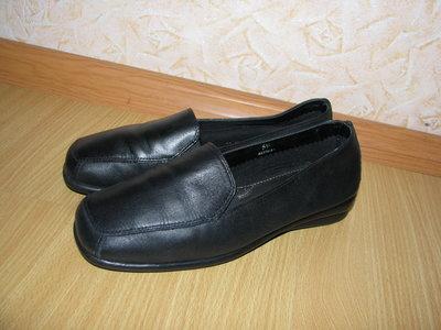 Новые кожаные мокасины Footglove р. 38-38.5 стелька 25см
