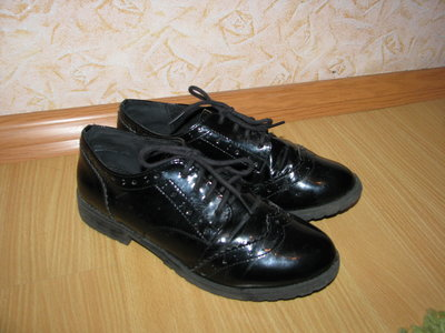 Debenhams лаковые туфли ботинки 38 р по вст 24.5см
