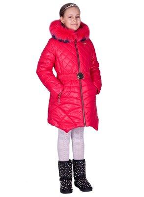 Зимнее пальто для девочки Эмели , двойной натуральных мех, 128-158 см.