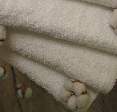 Полотенце махровое 50х70 см белое 550 г/м2