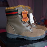 Ботинки кожаные для мальчика, зимние, новые р. 30,31,32,33