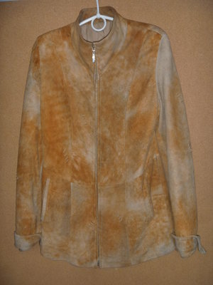 Замшевая куртка на синтепоне 44р, S-М