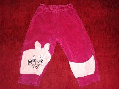 Велюровые штаны для ребенка 1 - 1,5 года