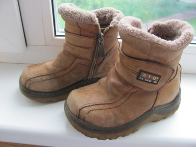 Зимние ботиночки нубук, натур. овчинка