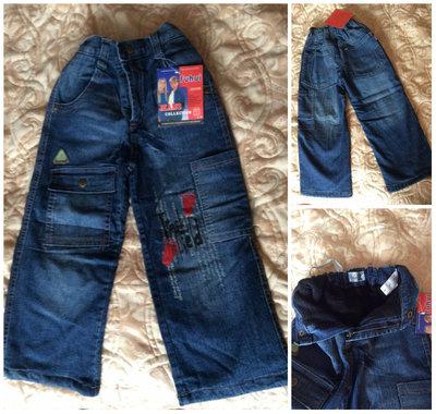 Утеплённые джинсы на флисе р.26
