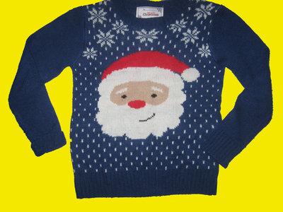 Новогодний свитер с Дед Морозом,на 7-8 лет,Christmas