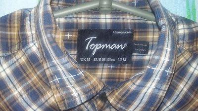 Стильная молодежная рубашка Topman р.S - M