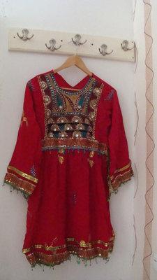 Платье восточное красное с вышивкой размер S/M