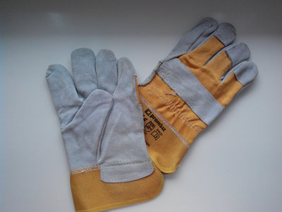 Перчатки х/б со спилковой накладкой