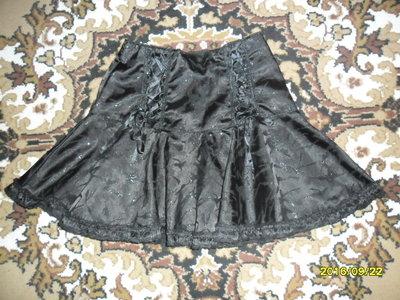 Нарядная черная юбочка на 6-8 ле