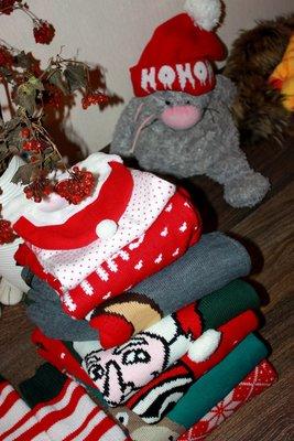 Свитер L-Xl-Xxl кофта Санта Дед Мороз Новый Год нарядный новогодний праздничный