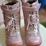 сапоги зимние Шалунишка для девочки детские кожаные ботинки