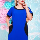 Платье-Туника с карманами больших размеров BG-505 с 50 по 60 размеры