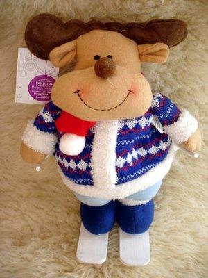 Продано: Шикарный большой олень на лыжах Новый год Николай новогогднее дом интерьер игрушка