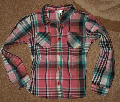 Рубашка в клетку на 5 лет
