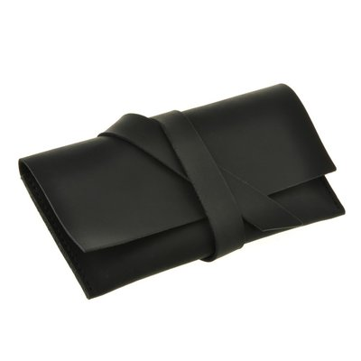 Чехол для смартфона натуральная кожа черный ручная работа