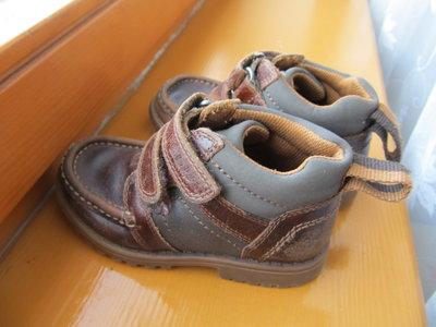 Демисезонные ботинки 24-25р кожа