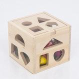 Деревянная игра Куб-Логика сортер 0541 дерево