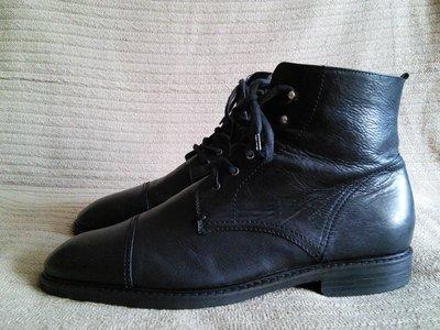 Мощные высокие демисезонные черные кожаные ботинки Jones Bootmaker 44р