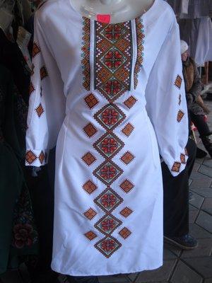 Платье вышиванка машинная вышивка