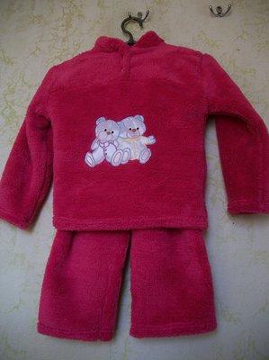 Пижама детская теплая махровая девочкам на 4,5 лет