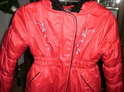 Демисезонная Зимняя курточка для девочки 5-6 лет 110-116
