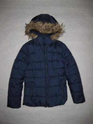 зимняя куртка Zara на 8-9 лет, 128 рост, девочке, синяя