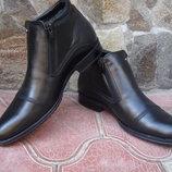 Ботинки мужские, зимние. А-24. натуральная кожа и цигейка