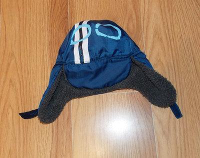 Демисезонная фирменная шапка для мальчика 12-24 месяцев, 48-50 см