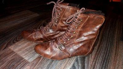 Ботинки с вязаным носком-обманкой, стелька 25,5 см