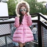 детская куртка теплая- Пуховик зимняя натуральный парка пальто термо комбинезон термо для девочки