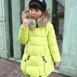 Детская куртка для девочки зимняя пуховик пуховая комбинезон пальто