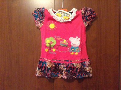 Новая туника блузка на 3-4 года свинка Пеппа
