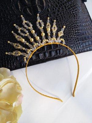 Тиара корона на обруче Бусинка