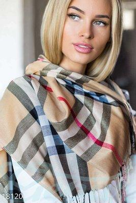 Клетчатый шарф палантин