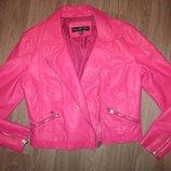 куртка Яркая крутая розовая косуха
